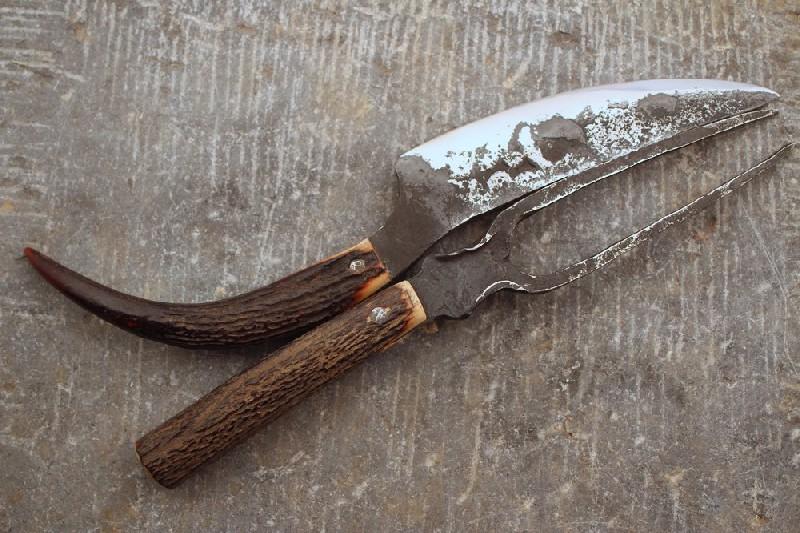 Set couteau et  fourchette pour barbecue